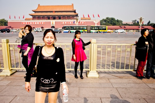The tourists of Tiananmen